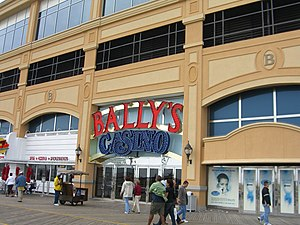 Bally's Atlantic City - The boardwalk entrance to Bally's Casino.