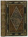 Band van bruin kalfsleer, siena en zwart gemarmerd en zwart gebeitst-KONB12-1768B35.jpeg
