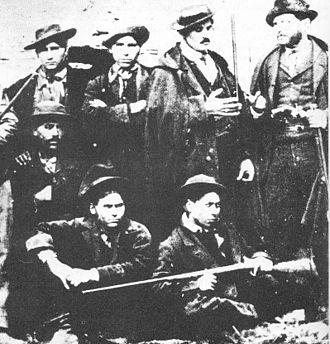 History of guerrilla warfare - Band of south Italian brigands in Basilicata, during the Italian unification