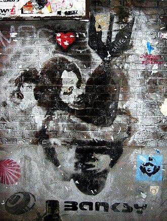 Artivism - Bomb-hugger by Banksy