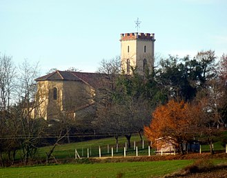 Banos, Landes - The church of Banos