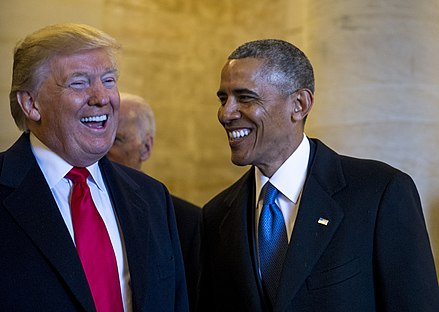 Barack Obama and Donald Trump., From WikimediaPhotos