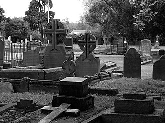 Barbadoes Street Cemetery - The Barbadoes Street Cemetery in Christchurch in October 2010