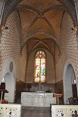 Barcelonne-du-Gers - église autel.JPG