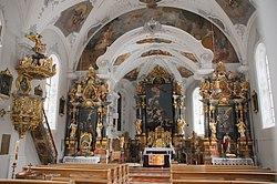Barocque interior of the Catholic church of Kappl in the Paxnaunvalley Austria - panoramio.jpg