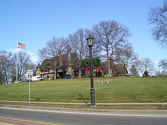 National Register of Historic Places listings in Bristol County, Rhode Island - Image: Barrington RI Town Hall in 2008