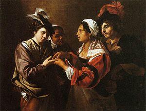 Bartolomeo Manfredi - Gypsy Fortune Teller - W...