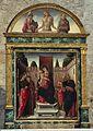 Bartolomeo vivarini, madonna e santi, con lunetta del cristo in pietà tra due santi, 1476.jpg