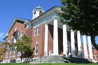 Bath County, Virginia - Image: Bath County Courthouse, Warm Springs