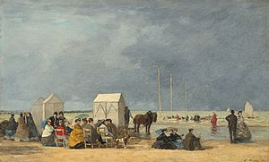 Deauville - Bathing Time at Deauville, by Eugène Boudin, 1865