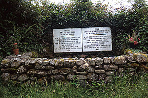 Earl of Desmond - A memorial at the site of the Battle of Callann, where John FitzThomas FitzGerald, 1st Baron Desmond and his eldest son fell in 1261 while fighting against Fínghin Mac Carthaigh, King of Desmond.