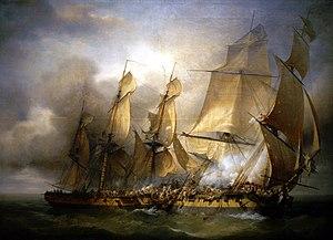 Louis-Philippe Crépin - Combat de la Bayonnaise contre l'Ambuscade, 1798