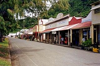 Levuka Town in Ovalau, Fiji