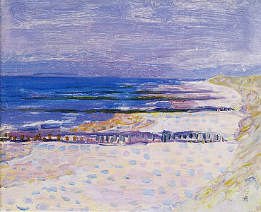 Beach with Five Piers at Domburg.jpg