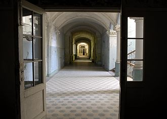 "The Beelitz-Heilstatten hospital complex was used as the setting for the ""Woke Up Hurting"" music video. Beelitz Sanatorium interior1.jpg"