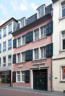 Beethoven's birthplace at Bonngasse