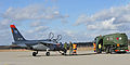 Belgian Alpha Jets land for fuel at GK (12458104683).jpg