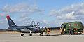 Belgian Alpha Jets land for fuel at GK (12458104683).jpg