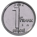 Belgian coin of 1 franc Albert II in Dutch - reverse.TIF