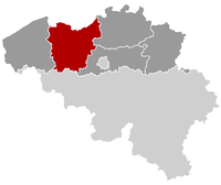 Location of Flandres Oriental