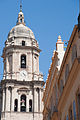 Bell tower of the Cathedral of the Encarnation as seen from the streets of Málaga, Andalusia, Spain, Southeastern Europe-2.jpg
