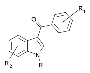 Structural scheduling of synthetic cannabinoids - Benzoylindoles, where R, R1 and R2 are as defined in the statute