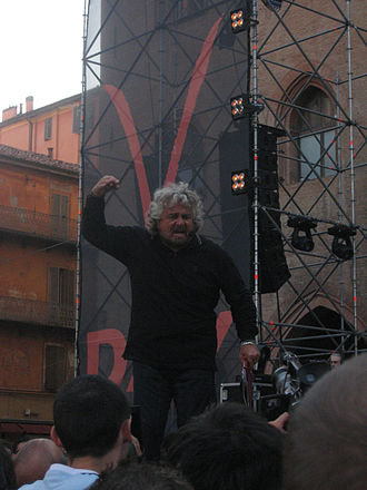 Beppe Grillo - Beppe Grillo in Bologna speaking at V-Day.