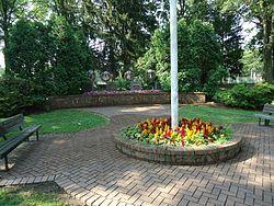 Berkeley Heights NJ memorial plaza near train station