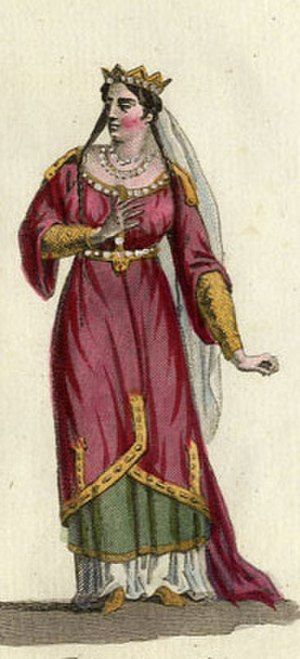 Adelaide-Blanche of Anjou - 19th century image of Adelaide-Blanche of Anjou.