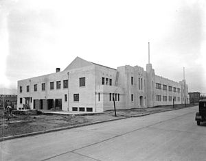 Bessborough Armoury - Under construction, January 1933