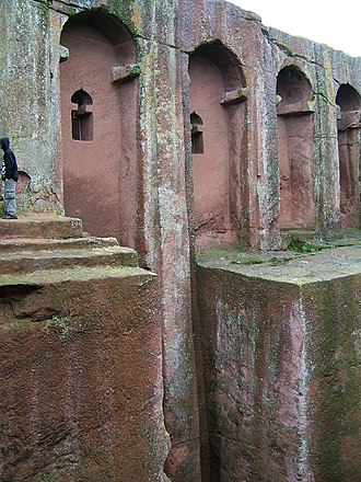 Agaw people - Bet Amanuel church in Lalibela, one of several rock-hewn churches built by the medieval Zagwe dynasty