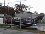 Beverly Airport - MiG-15UTI Trainer Jet.JPG