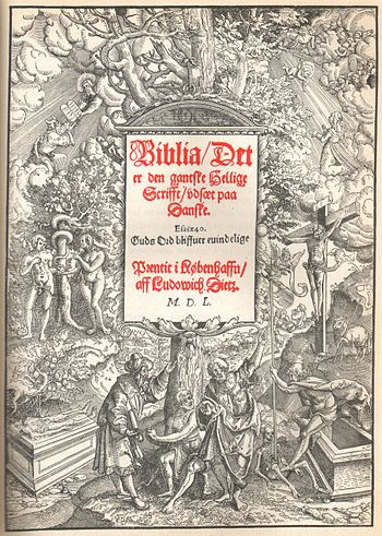 """Christian III Bible"", printed 1550 ..."