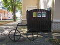 Bicycle as a bicycle rack and Bicycle-friendly townships plaques, 2018 Dombóvár.jpg
