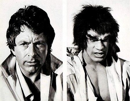 Bill Bixby Lou Ferrigno Incredible Hulk 1977.jpg