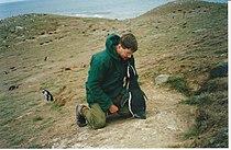 Bingham with Magellanic penguins.jpg