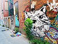 Bird and Cat - Montreal Alleys (28630686483).jpg
