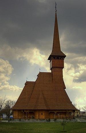 Mizil - Saints Joachim and Anna Orthodox Church, in Maramureș style (completed 2007)