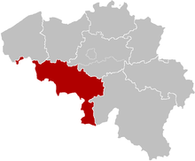 The Diocese of Tournai, coextensive with the province of Hainaut