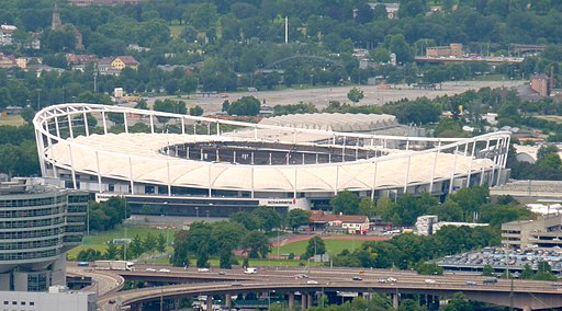 Blick vom Rotenberg Stadion