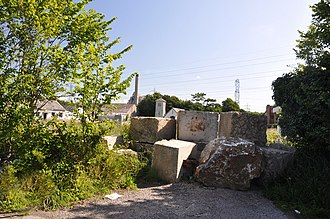 Aberthaw - West Aberthaw, looking over at Boys Village