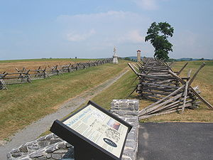 Sharpsburg, Maryland - A visitor's sign at the Antietam National Battlefield near Sharpsburg, in June 2005