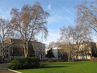 garden square in Holborn, Camden, London