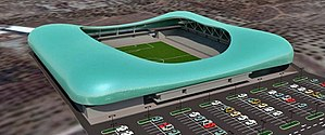 Kafr Qasim - Kfar Qassem Football Stadium (under construction) Designed by Moti Bodek Architects