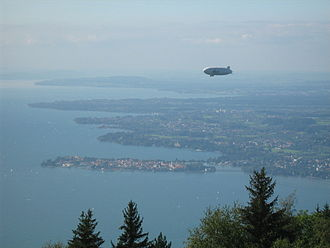 Lake Constance - Lake Constance with the Island of Lindau seen from Pfänder in 2007