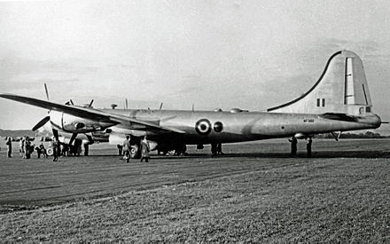 Royal Air Force Washington B.1 of No. 90 Squadron RAF based at RAF Marham Boeing B-29A Washington B.1 WF502 90 Sqn Hooton 20.09.52 edited-2.jpg