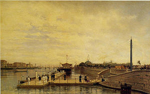 Neva River - Neva River in a nineteenth-century painting