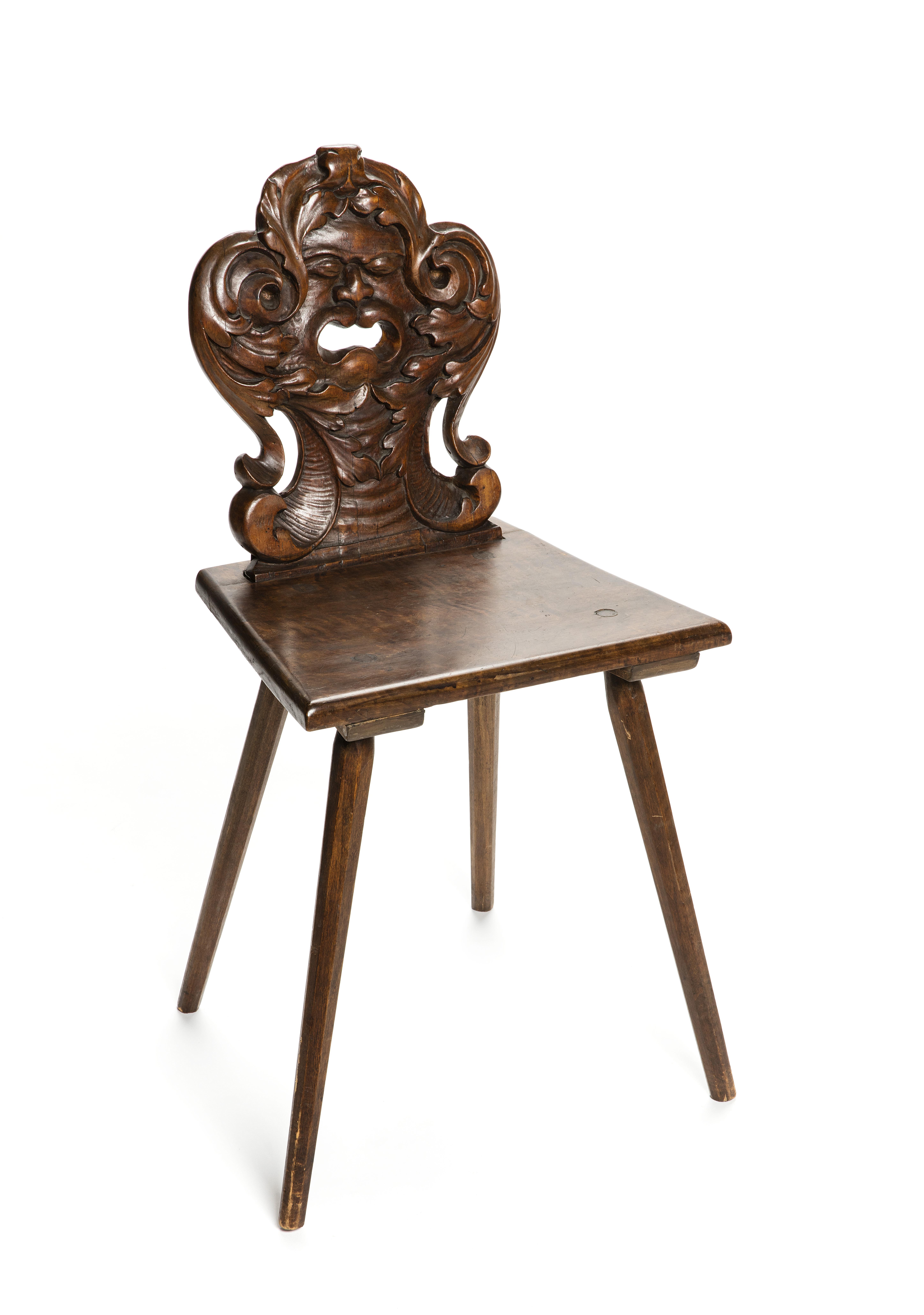 File Bonad och snidad stol med maskaron, 1600 tal Hallwylska museet 108415 tif Wikimedia