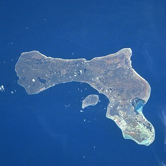 Bonaire - A satellite photography of Bonaire and Klein Bonaire.