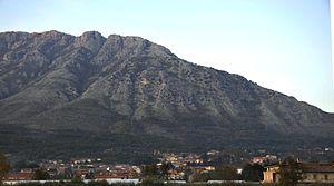 Bonea - A view of Bonea at the feet of the Taburnus